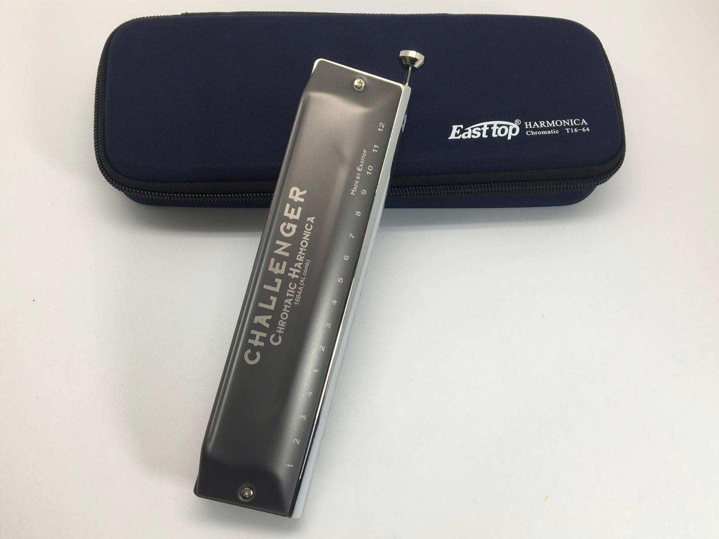 Easttop Challenger Chromatic Harmonica Aluminium 16 hole - model T-16-64-AL with case