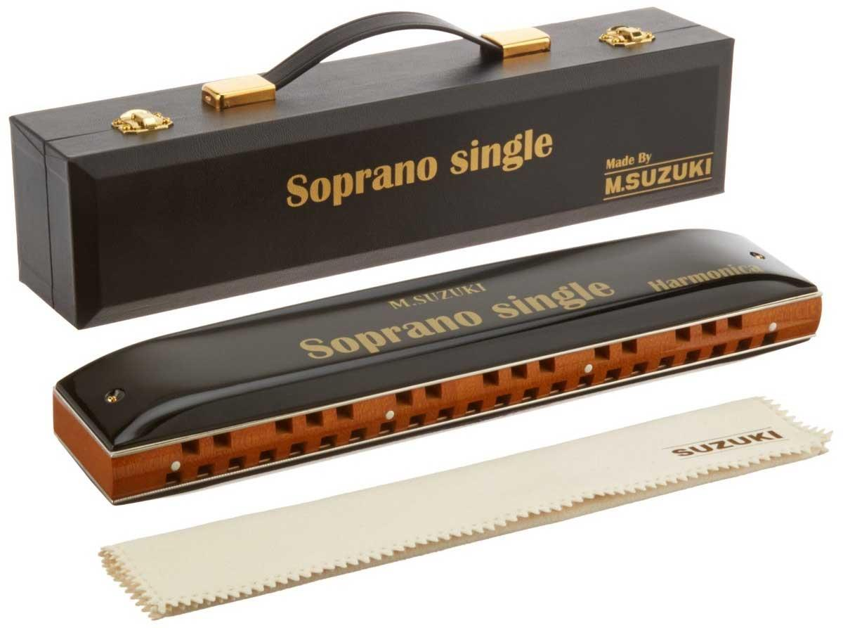 Suzuki Soprano Tremolo harmonica SS-37  with bag