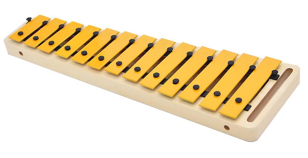Suzuki mini Glockenspiel Soprano MSG-13 from side