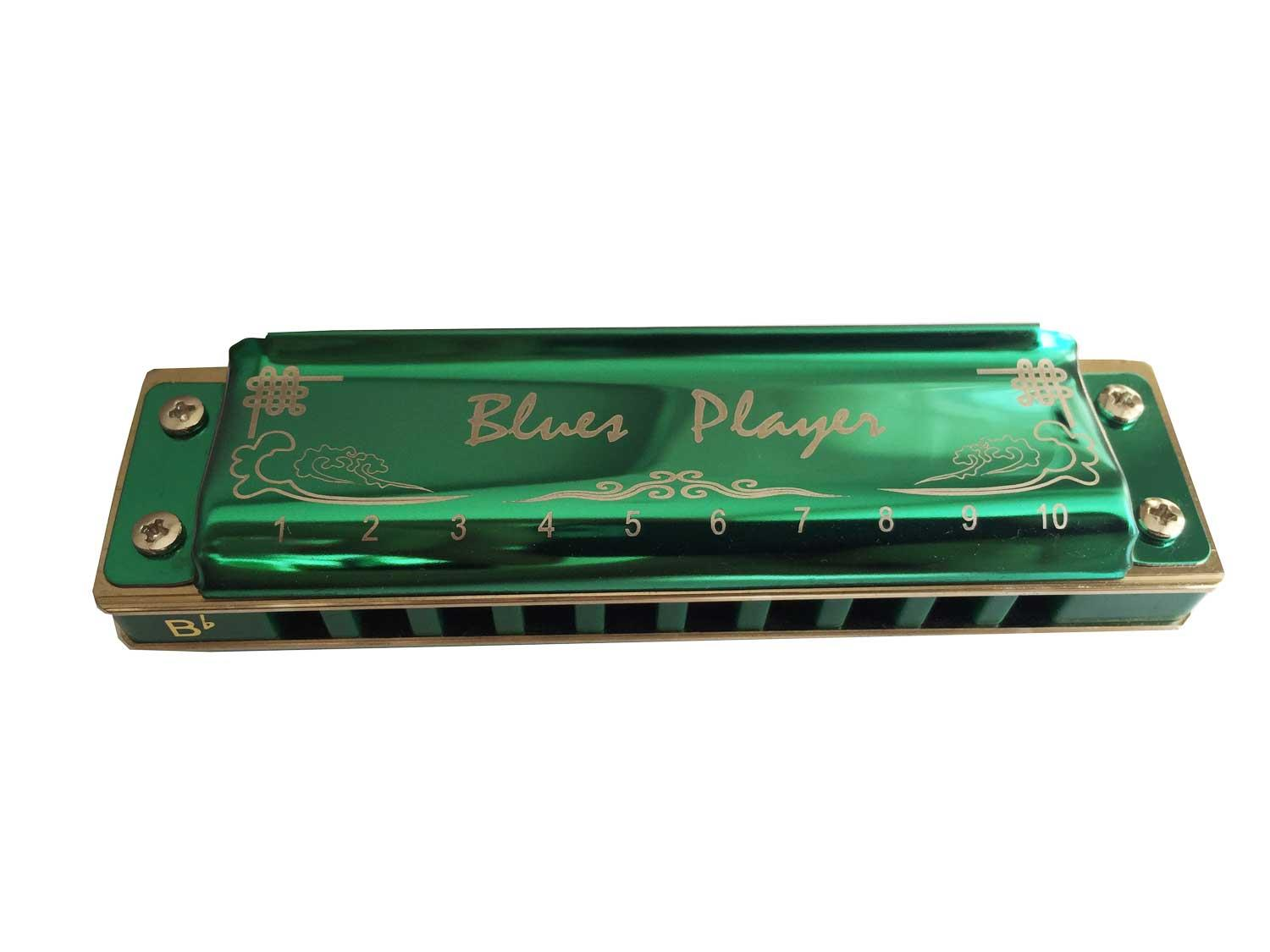 Easttop Blues harmonica - PR020 7-pcs. color package green 2