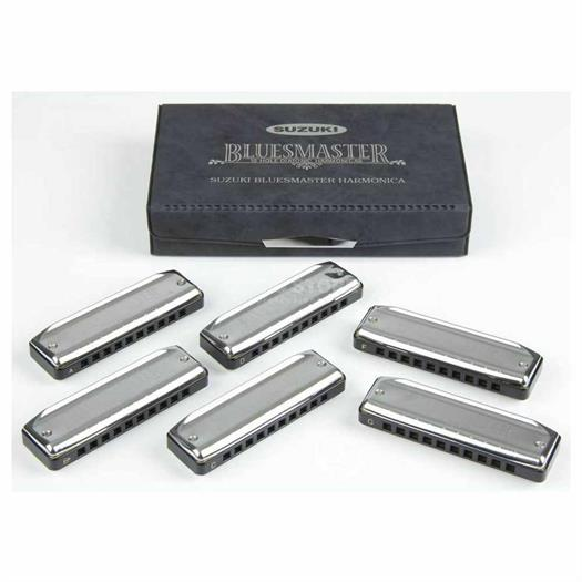 Suzuki Harmonica Promaster MR-350 - Box set with 6 keys