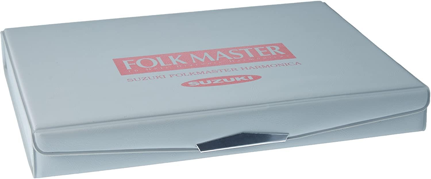 Suzuki Folkmaster 1072 Harmonica Box set with 12 keys - closed box