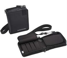 Carrying bag for 8 pcs. of 10 hole harmonicas.