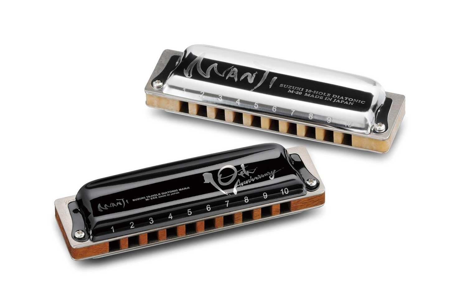 MANJI M-20 10th Anniversary Model - M-20X harmonica and old model